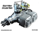 DLA 116cc Gas Inline Twin Engine